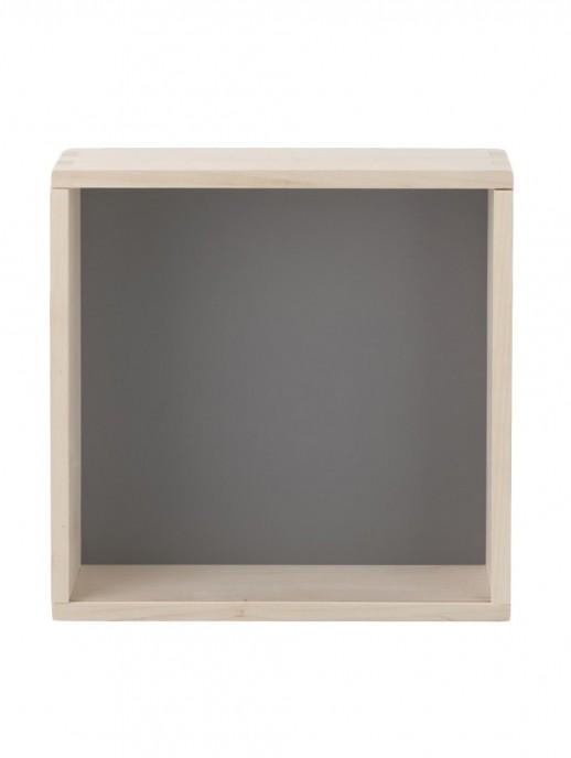 caja estantería gris