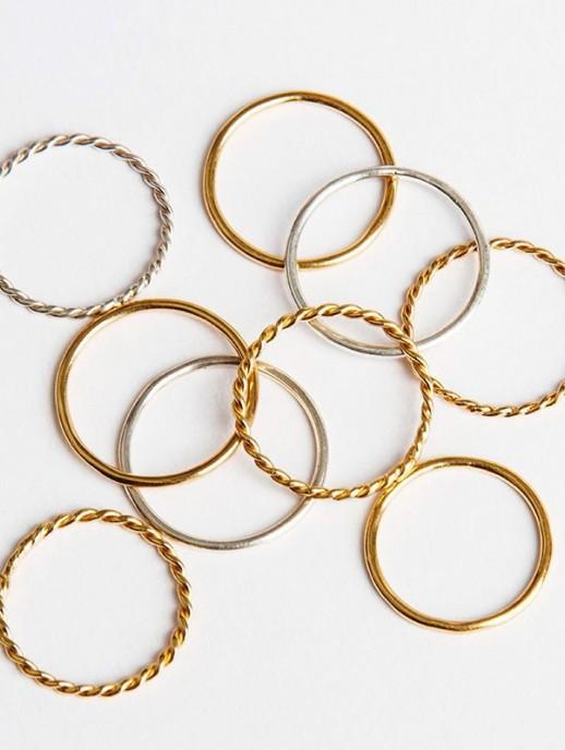anillo rizado plata