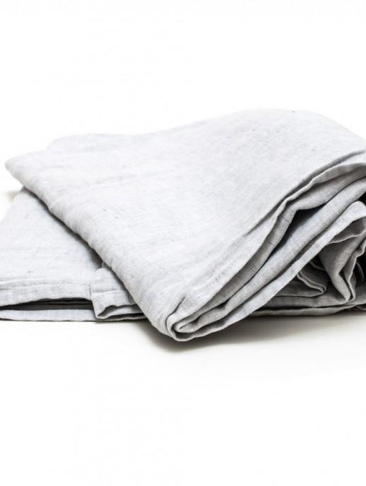 mantel de lino gris