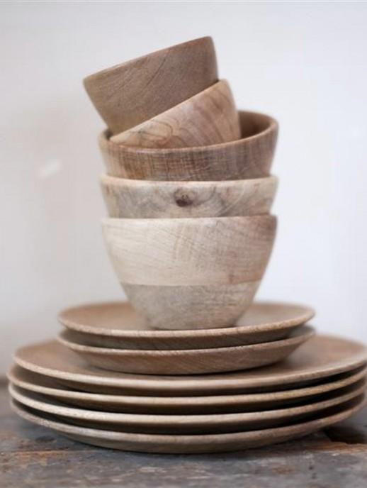 plato de madera