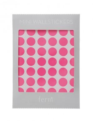 vinilos puntitos rosa neon