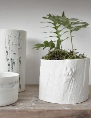 portavelas de porcelana