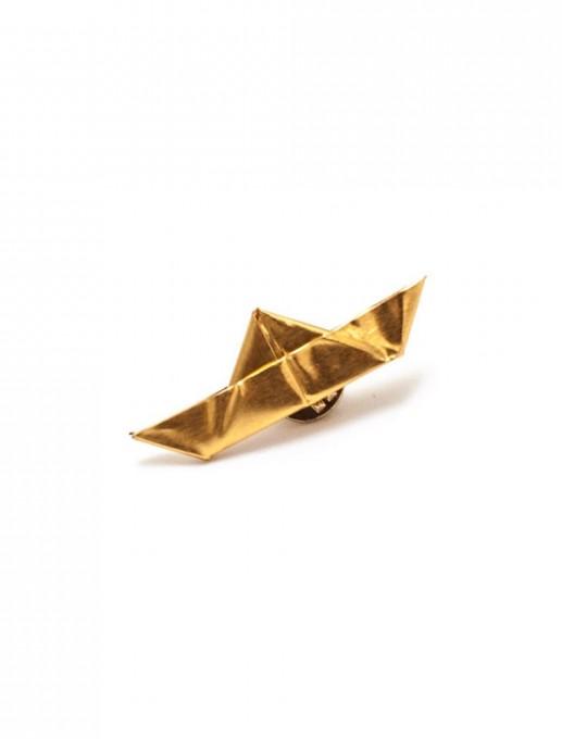 broche barquito de origami