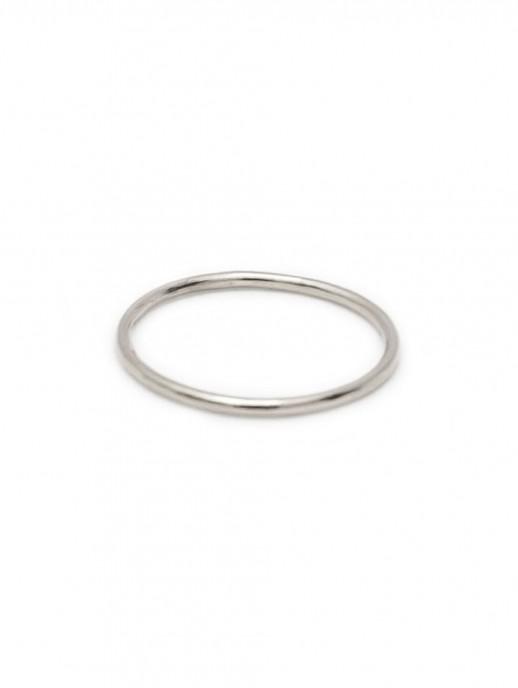anillo liso plata