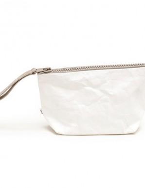 monedero cremallera de papel blanco