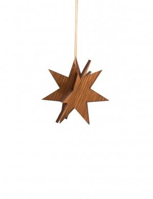 Estrella de madera oscura pequeña