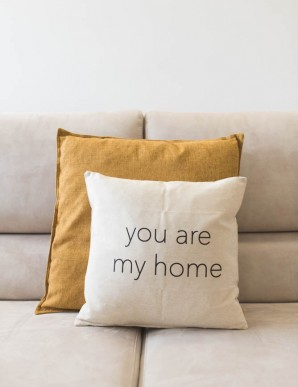 "Funda cojín ""you are my home"""