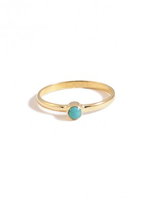 anillo punto turquesa