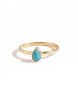 anillo gota turquesa