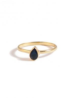 anillo gota azul