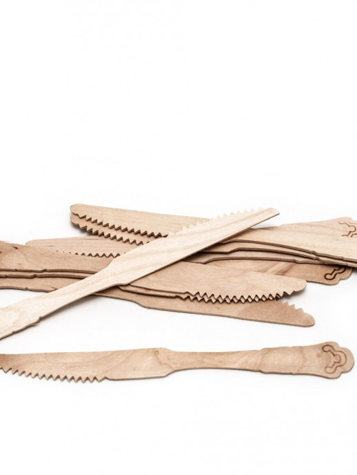 cuchillos de madera (10 unidades)