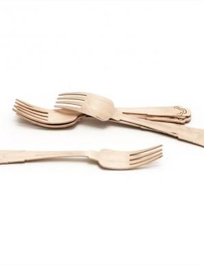 Pack tenedores de madera (10 unidades)