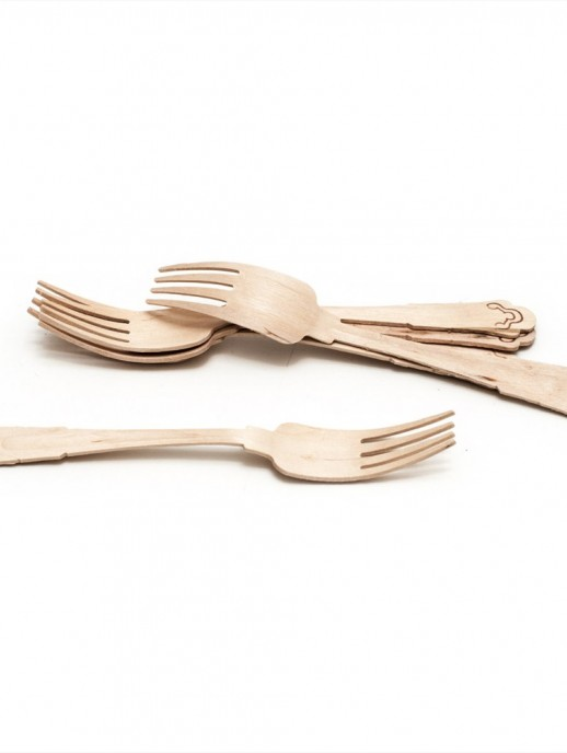 tenedores de madera (10 unidades)