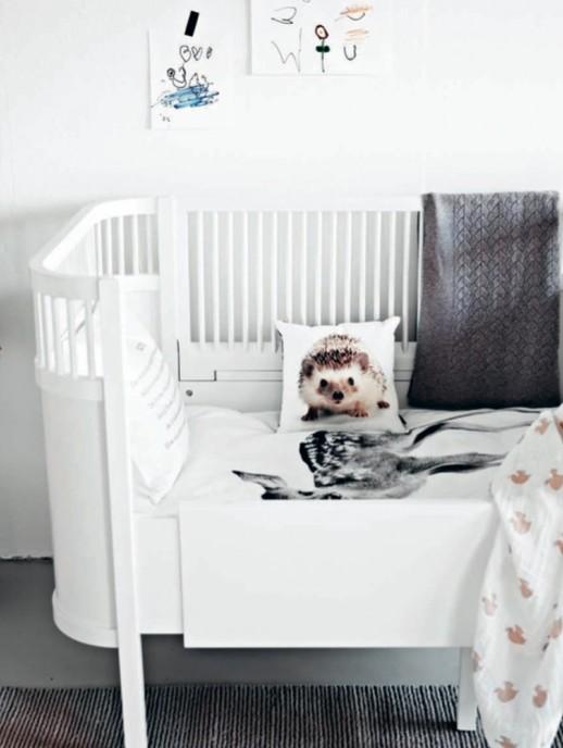 manta infantil gris